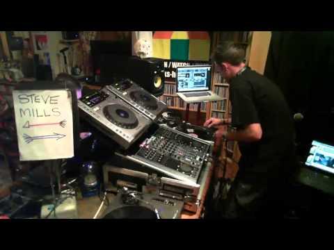 STEVE MILLS live on Jacks TV - DJ set, live, fullon acid techno