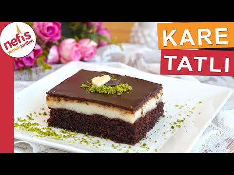 Şerbetli Ve Çikolatalı Kare Tatlı Tarifi - Yaş Pasta Tadında Nefis Bir Tatlı