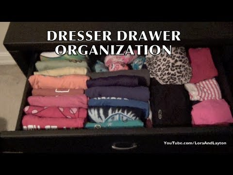 dresser drawers organizing t shirts tank tops underwear pants youtube. Black Bedroom Furniture Sets. Home Design Ideas