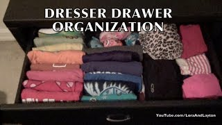 Dresser Drawers: Organizing T-shirts, Tank Tops, Underwear & Pants.