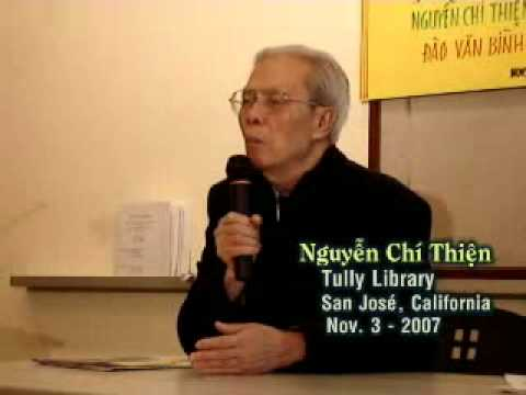 NGUYEN CHI THIEN, Dissident Poet, spoke at San Jose Library, Nov. 3-2007
