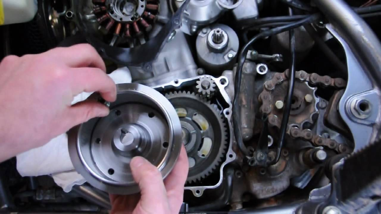 trail tech z400 flywheel video tutorial youtube