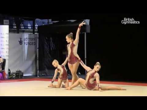 ACRO Women 12-18 Group - South Tyneside Gym Club - GOLD