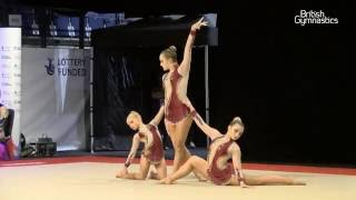 ACRO Women 12-18 Group - South Tyneside Gym Club - GOLD Video