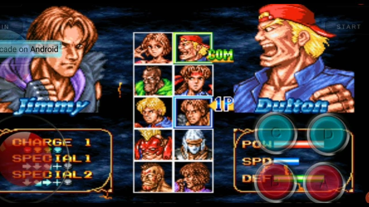 Double Dragon Neo Geo Android Mobile Gameplay Download Link