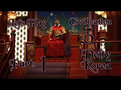 Part 1: Let's Play Civilization 5, Brave New World, Korea, Deity