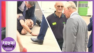 Supermarket Worker Faints In Front Of Prince Charles