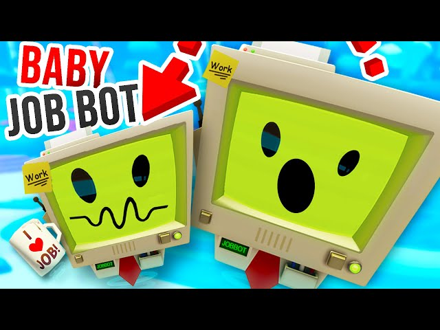 NEW BABY JOB BOT babysitting Bots in Vacation Simulator!!?! (Vacation Simulator: Back To Job)