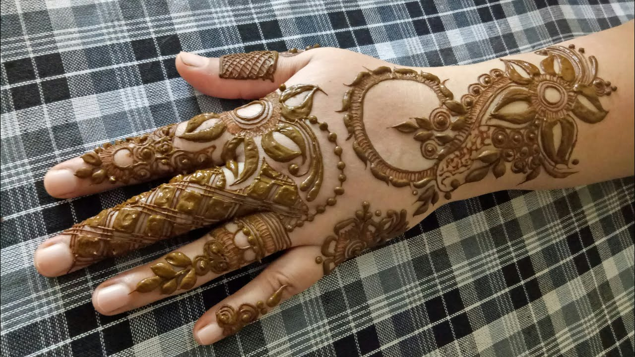 Indo Gulf Henna Design For Hands Step By Step For Begginers Youtube