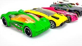 Carros de Carreras para Niños - Autos Hot Wheels en Colores Divertidos