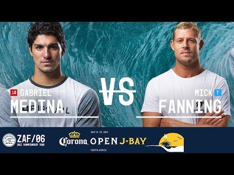 Gabriel Medina vs. Mick Fanning - Quarterfinals, Heat 1 - Corona Open J-Bay 2017