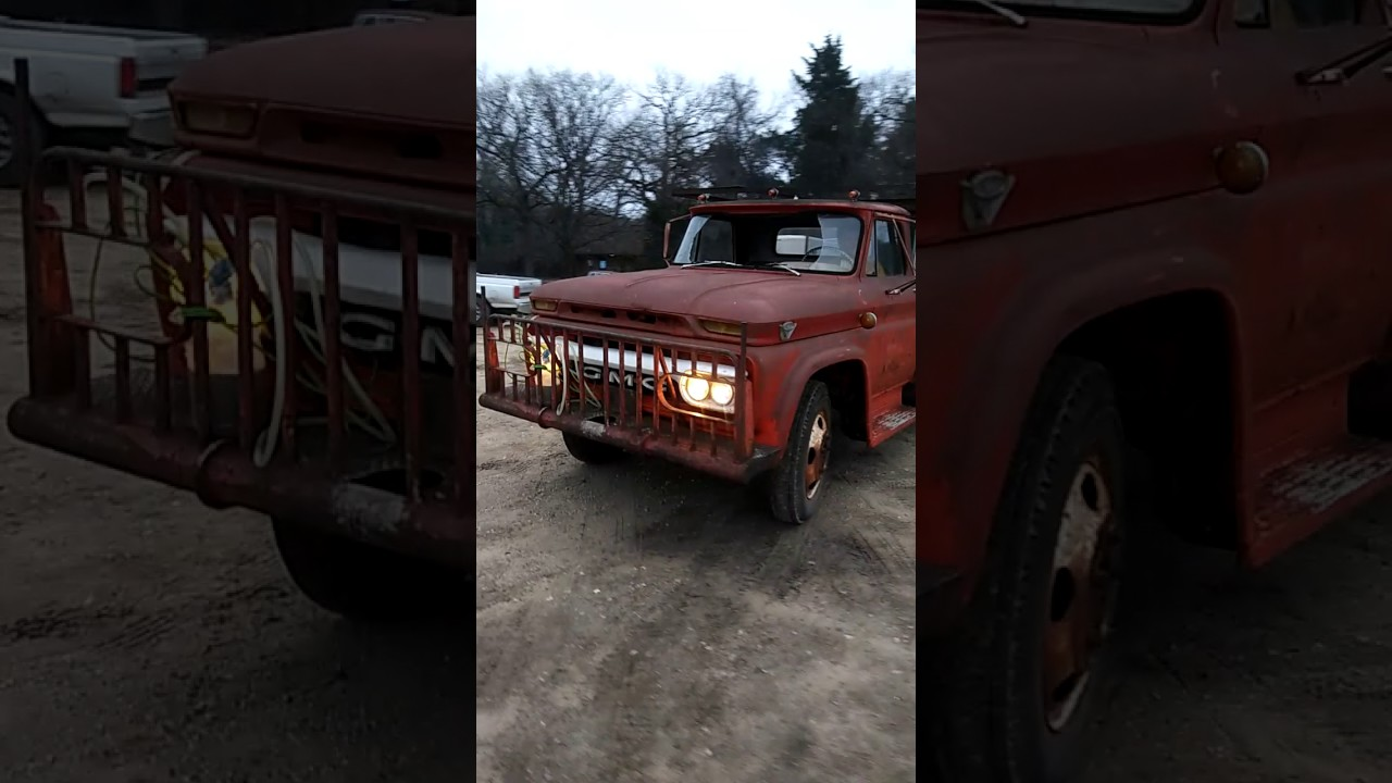 hight resolution of 1964 gmc 5000 v6 first time run in 30 years