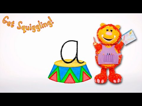 Get Squiggling Letters | Letter A