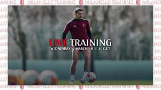 Live Training Ahead of AC Milan v Manchester United