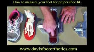 How to measure your feet for proper shoe fit