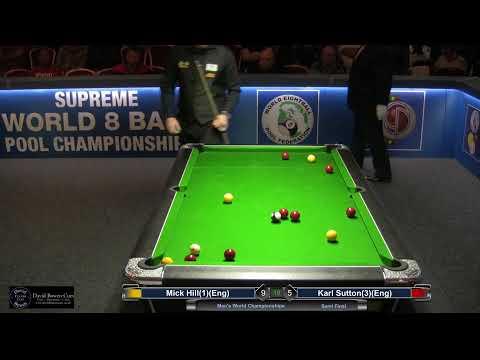 2019 Men's World Championship - Semi Final - Mick Hill (1)(Eng) V Karl Sutton (3)(Eng)