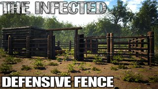 Defensive Fencing my Base | The Infected Gameplay | E02