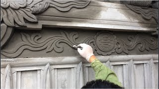 Construction - Beautiful Wall Decoration Techniques - Rendering Sand And Cement On The Wall