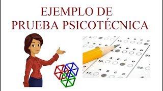 Ejemplo de PRUEBA PSICOTÉCNICA - Preguntas y Respuestas - Ponte a Prueba