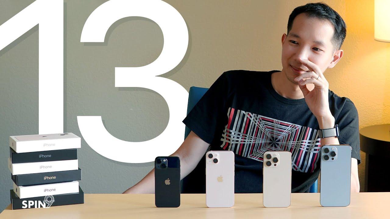 [spin9] รีวิว iPhone 13 จัดเต็มทุกรุ่น – เหมาะกับใคร ใครควรอัพเกรด?