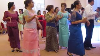 Cambodian traditional music and dance in wedding party