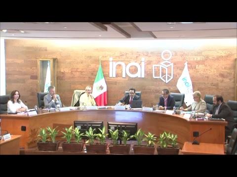 Sesión Pública del Pleno del INAI  Correspondiente al 16 de mayo de 2018