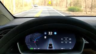 MULTIPLE S CURVES | TESLA Self Driving AutoPilot TEST | AP2 2018.10.4 | Vid 002