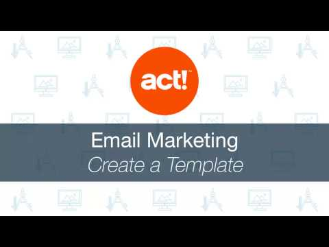 Act! Emarketing: Create A Template