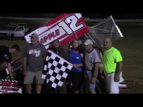 Trail-Way Speedway 358 Sprint Car Victory Lane 6-30-17