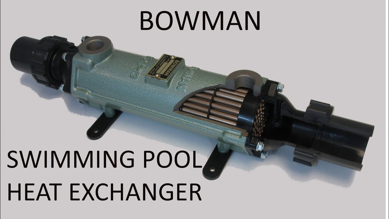 Bowman swimming pool heat exchanger explained showing the - Bowman heat exchangers for swimming pools ...
