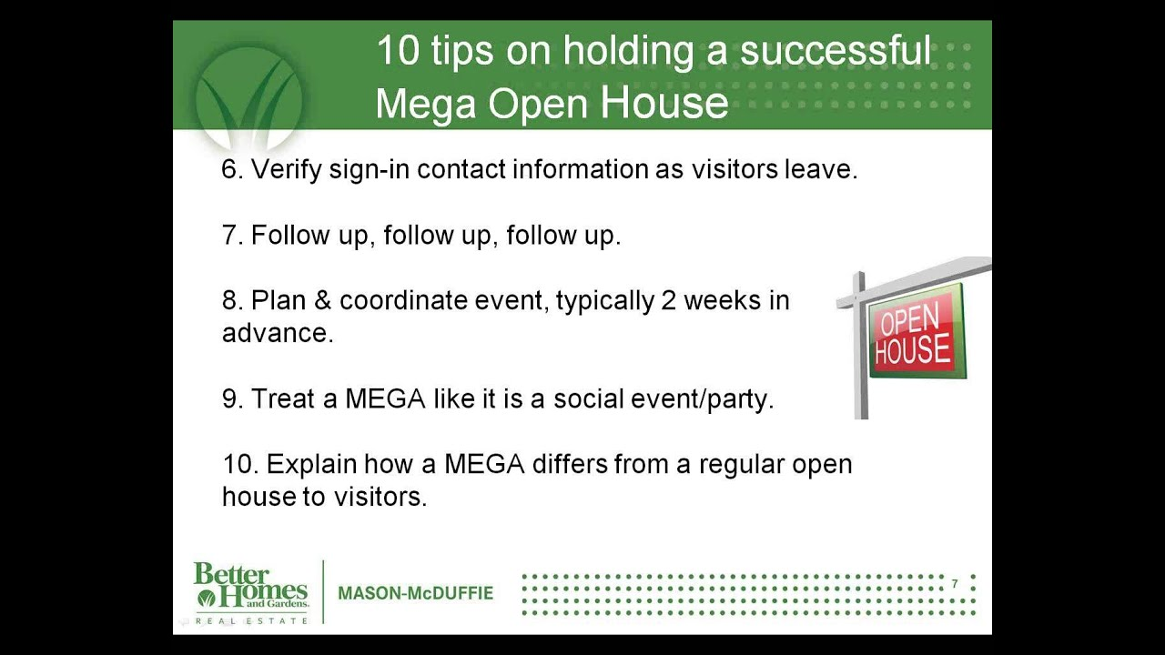 Mega Open Houses And 5 Networking Tips YouTube