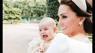 Prince Louis GIGGLES: Kate and baby Louis in beautiful picture in royal christening shot - Daily New