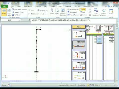 EXCsta xls - 2D Frame Analysis