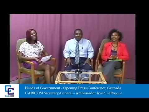 Caricom Heads of Government press conference in Grenada