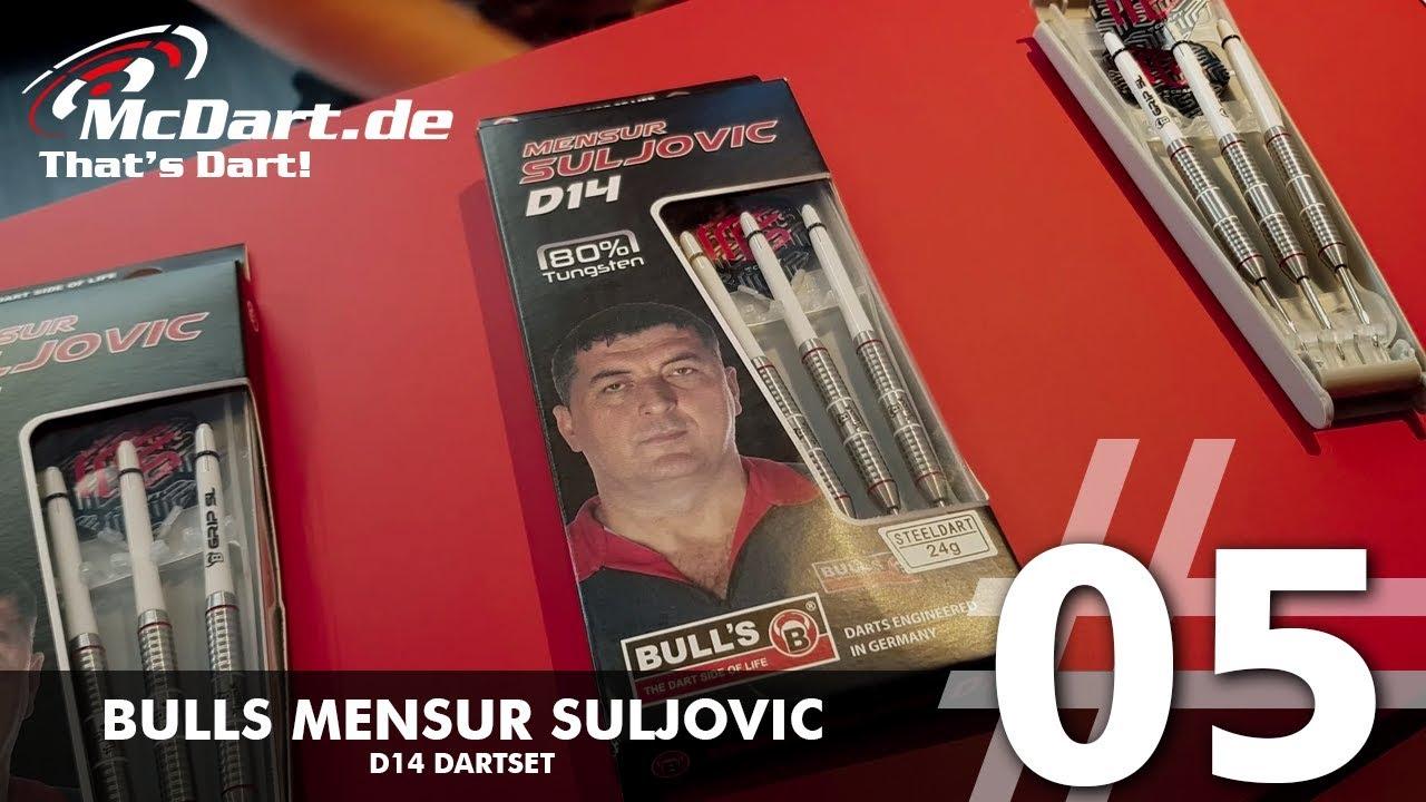 Bull's Mensur Suljovic D14 80/% Tungsten Darts Set