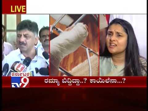 Minister DK Shivakumar Clarifies On Ramya Not Attending Ambareesh Funerals