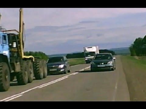 Crazy Russian drivers - God  is saving  idiots