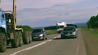 Crazy Russian drivers - God  is saving  idiots