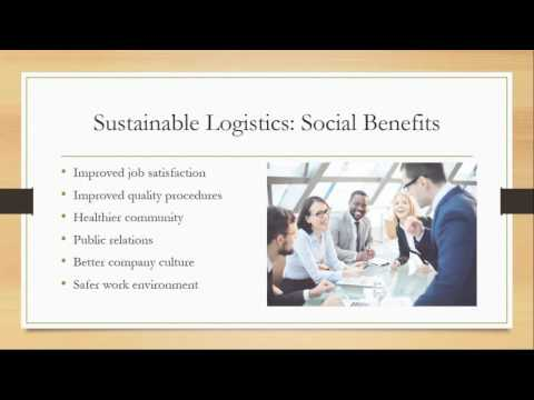 Green Logistics - Sustainability for Transportation and Logistics Professionals