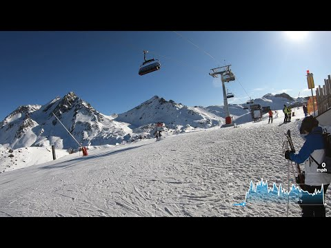 Another Perfect Day Skiing Down to Ischgl in 4k 2020