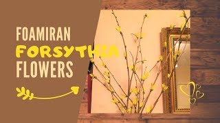 Forsythia Foam Flower I Spring Decoration I Foamiran tree DIY