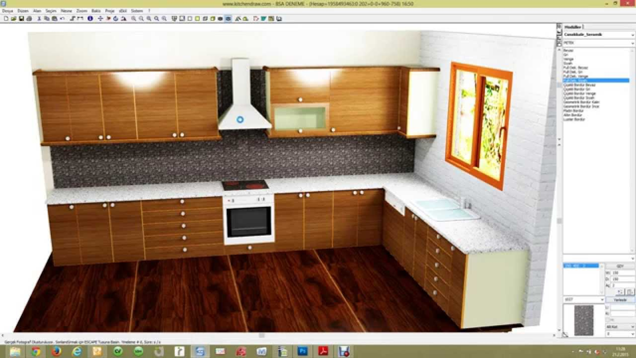 how to draw kitchen design