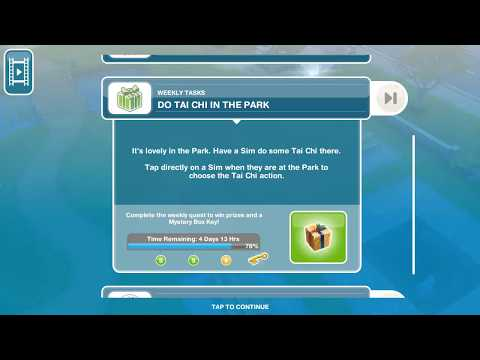 Do Tai Chi In The Park - Weekly Task - Sims FreePlay