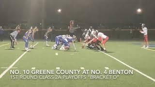 Playoff Football Highlights: Greene County at Benton