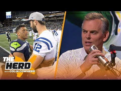 Colin Cowherd defends Russell Wilson and Andrew Luck after Pro Bowl snubs | NFL | THE HERD