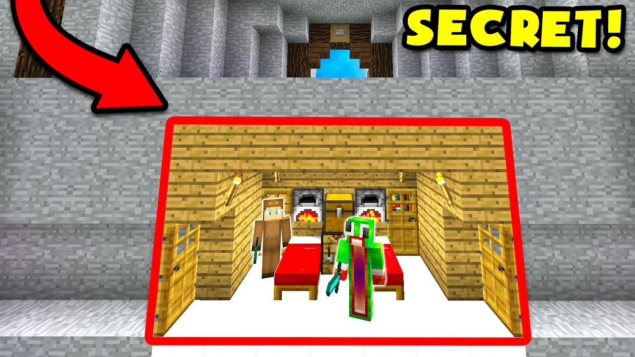 100% SECRET UNDERGROUND MINECRAFT HOUSE! - YouTube