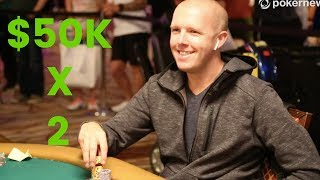 Satelliting into a $50K Poker Tournament TWICE