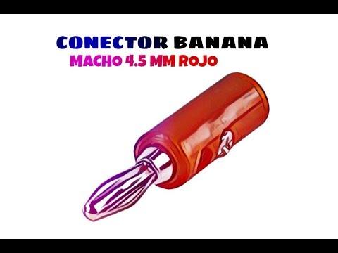 Video de Conector banana macho 4.5 mm  Rojo
