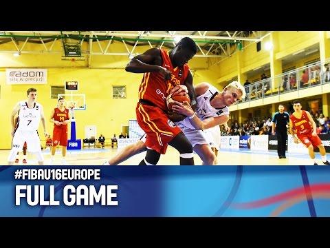 Latvia v Spain - Full Game - FIBA U16 European Championship 2016