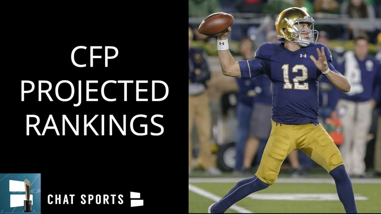 Football Playoff Rankings Out Top >> College Football Rankings: 2018 Playoff Top 25 Projections - Texas, Michigan, Notre Dame ...